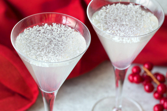 Hungry Girl's Coconut Lime Snowflake Martini Recipe