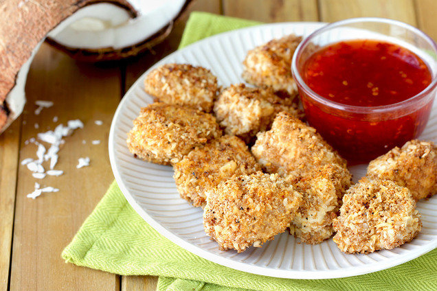 Hungry Girl's Healthy Coconut-Crusted Chicken Nuggets