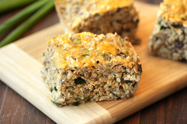 Hungry Girl's Healthy Cheesy Mushroom Oat Bake Recipe