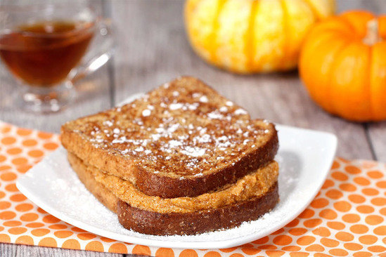Hungry Girl's Pumpkin Spice Stuffed French Toast Recipe