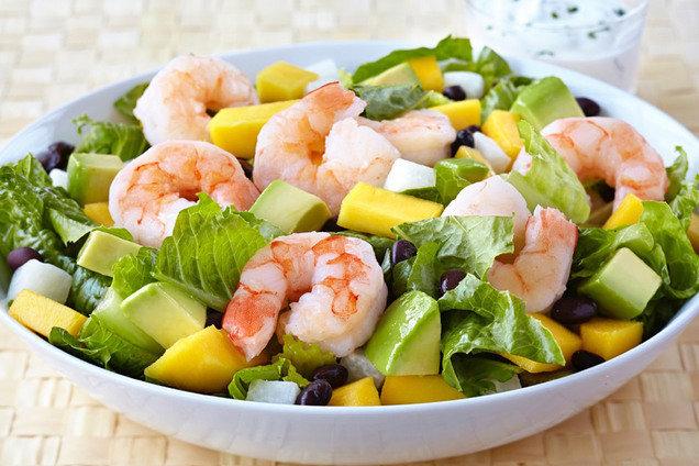 Hungry Girl's Tropical Shrimp Salad Recipe