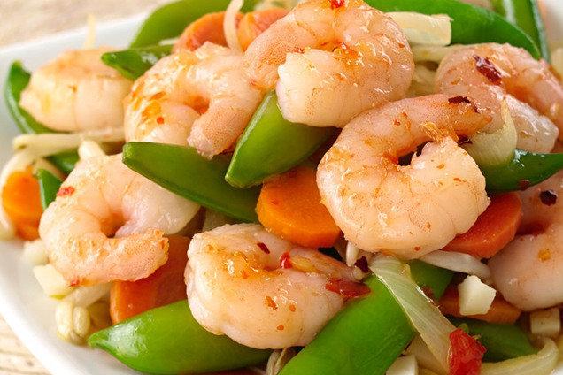 Hungry Girl's Sweet 'n Spicy Shrimp Stir-Fry Recipe