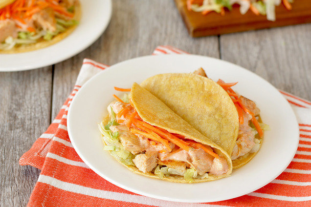 Hungry Girl's Healthy Buffalo Chicken Tacos Recipe