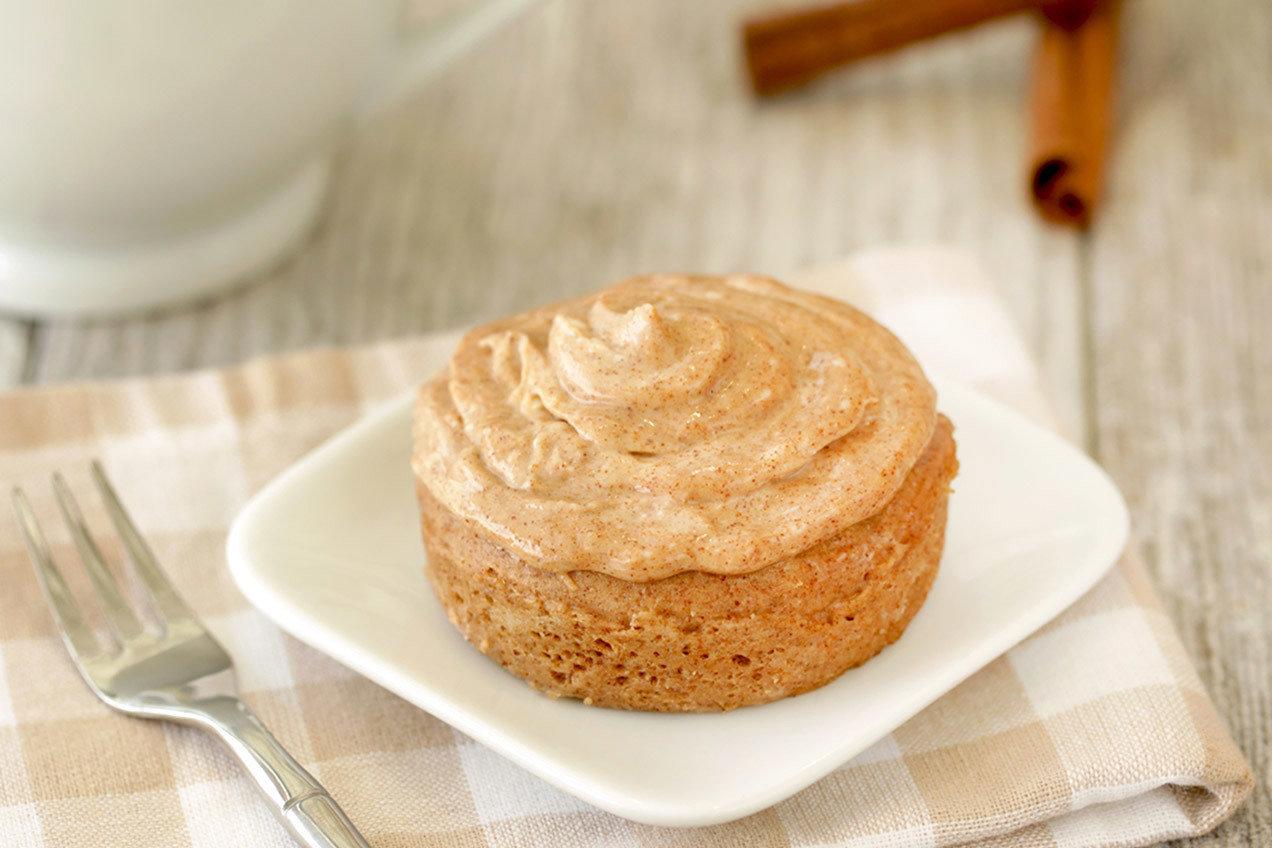 Healthy Cinnamon Roll Cake In A Mug Recipe Hungry Girl
