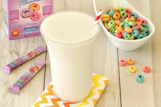 Hungry Girl's Healthy Fruity Hoops Shake Recipe