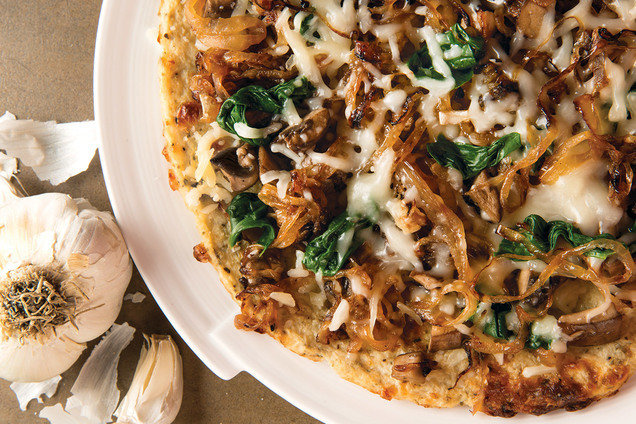 Hungry Girl Book Exclusive Recipe: Caramelized Onion Cauli-Crust Pizza