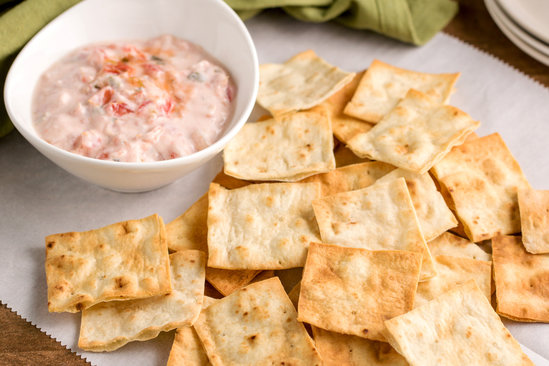 Crispy Lavash Chips with 2-Ingredient Dip