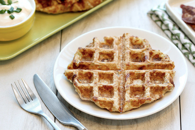 Hungry Girl's Healthy Bacon & Cheese Please Waffles Recipe