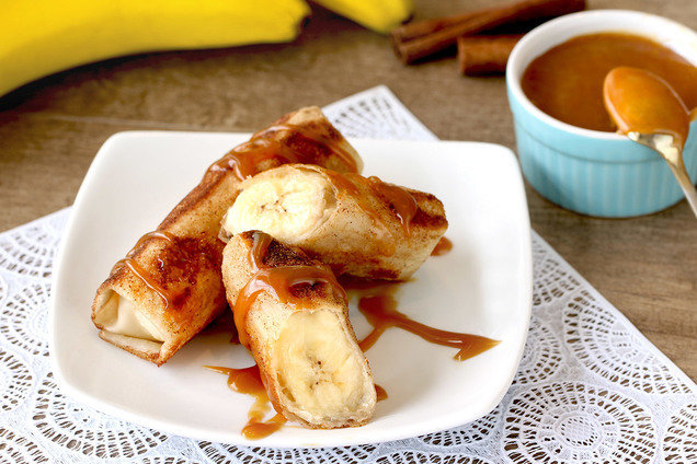 Hungry Girl's Low-Calorie Banana Caramel Egg Rolls Recipe