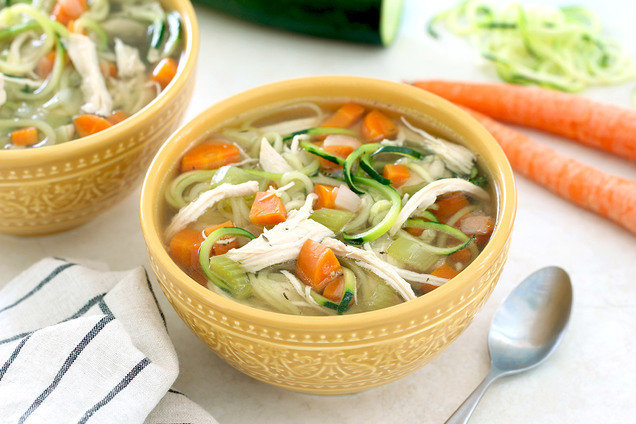 Healthy Instant Pot Chicken Zoodle Soup Recipe Hungry Girl