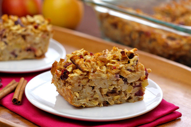 Hungry Girl's Healthy Apple-icious Matzo Kugel Recipe