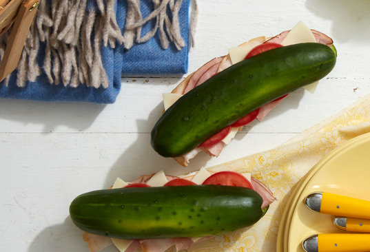 Ham & Swiss Cucumber Subs