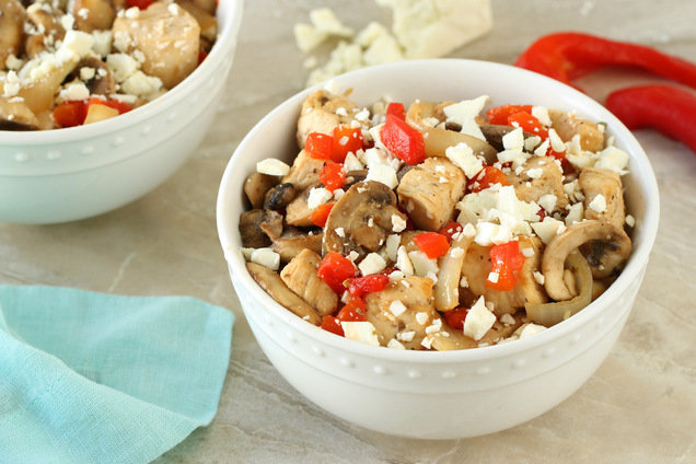 Hungry Girl's Healthy Mediterranean Chicken Stir-Fry Recipe