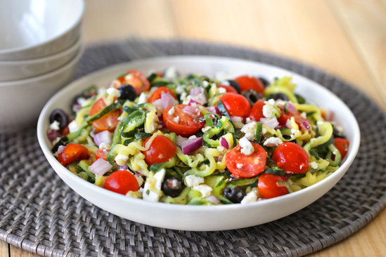 Great Greek Zucchini-Spiral Salad