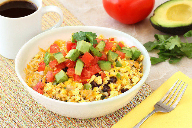 Hungry Girl's Healthy Breakfast Burrito Bowl Recipe