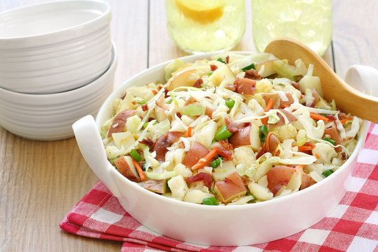 German Cauliflower Potato Salad