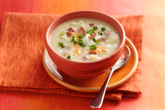 Hungry Girl's Heathy Fully Loaded Baked Potato Soup Recipe