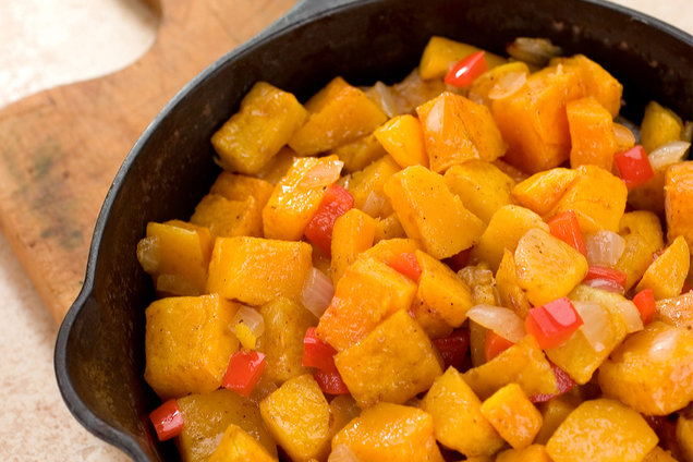 Hungry Girl's Healthy Yummy Butternut Home Fries Recipe