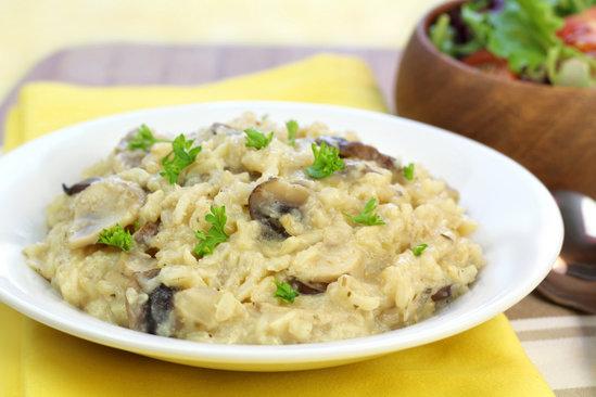 Hungry Girl's Healthy Creamy Mushroom Faux-sotto Recipe