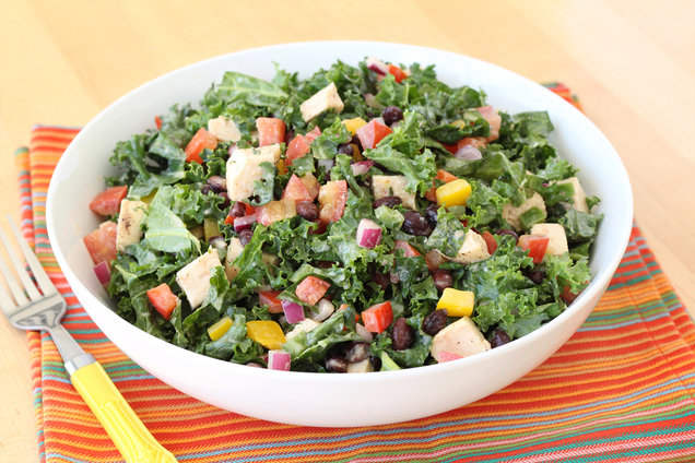 Hungry Girl's Healthy Southwest Chicken Kale Salad Recipe