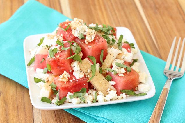 Hungry Girl's Healthy Happy Jicama Watermelon Salad Recipe