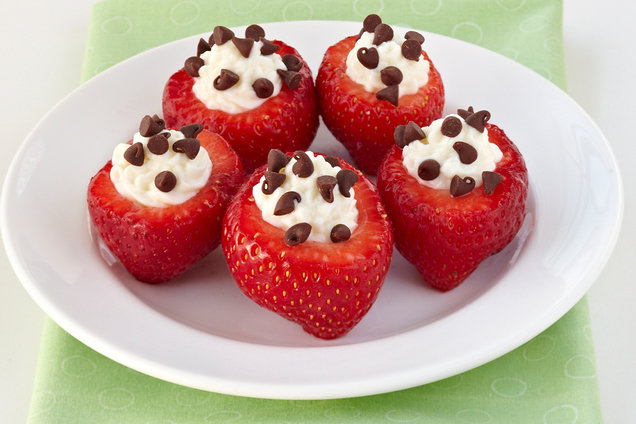 Chocolate-Chip-Stuffed Strawberries