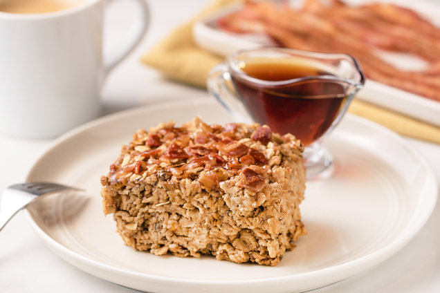 Maple Bacon Oatmeal Bake