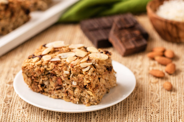 Chocolate Coconut Oatmeal Bake