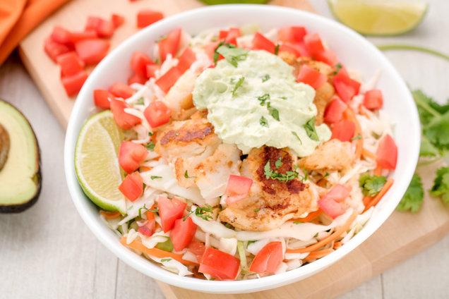 Hungry Girl's Healthy Fish Taco Bowl Recipe