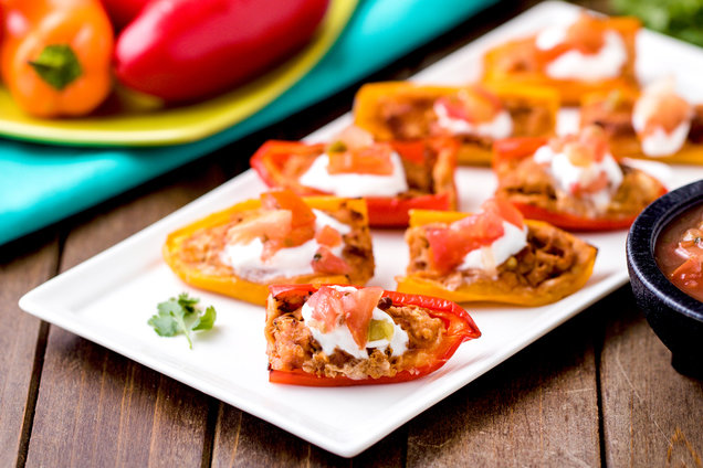 Hungry Girl's Healthy Air-Fryer Mini Mexican Stuffed Peppers Recipe