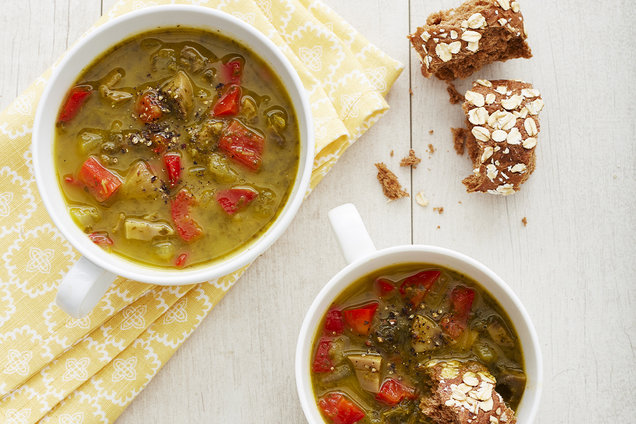 Hungry Girl Healthy Butternut 'n Kale Soup Recipe