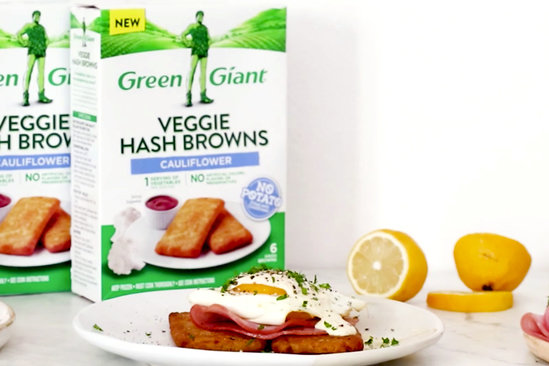 Hungry Girl's Healthy Veggie Hash Browns Benedict Recipe