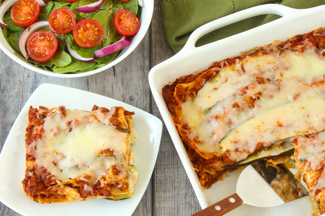 Hungry Girl's Healthy 6-Ingredient Zucchini Lasagna Recipe