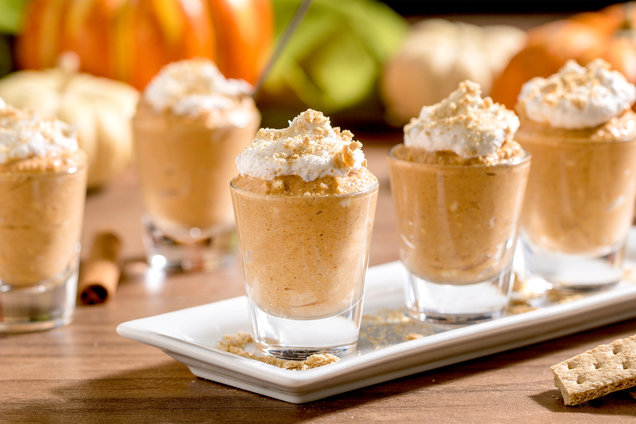 Hungry Girl's Healthy Shot-Glass Pumpkin Cheesecakes Recipe