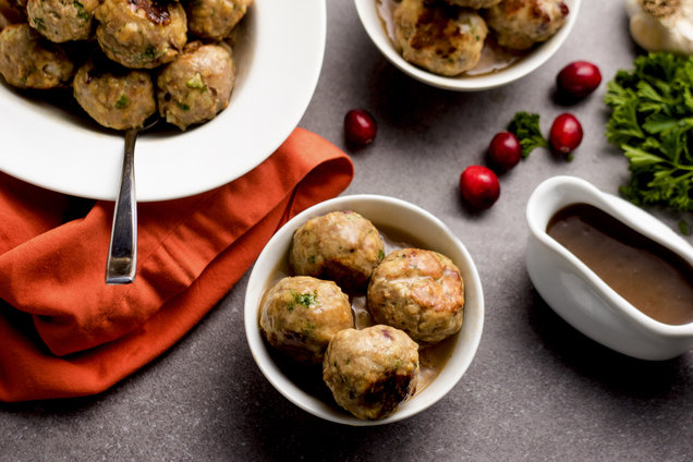 Hungry Girl's Healthy Thanksgiving Meatballs Recipe