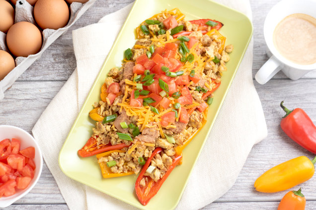 Hungry Girl's Healthy Breakfast Bell Pepper Nachos Recipe