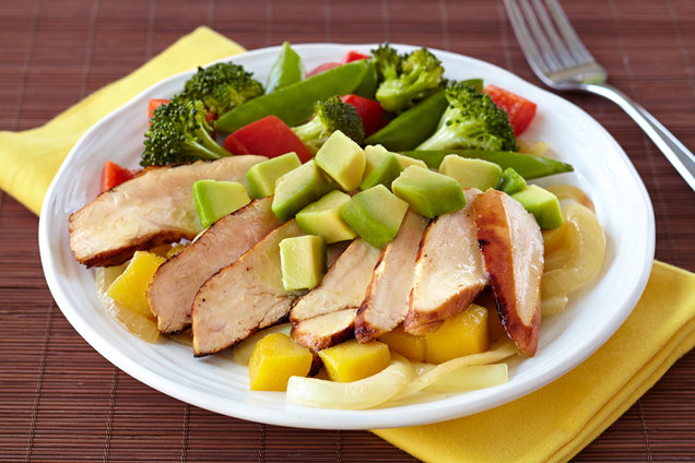 Hungry Girl's Healthy Mango Avocado Chicken Recipe