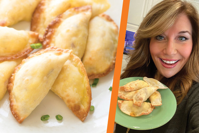 Hungry Girl's Healthy Air-Fryer All-American Breakfast Dumplings Recipe
