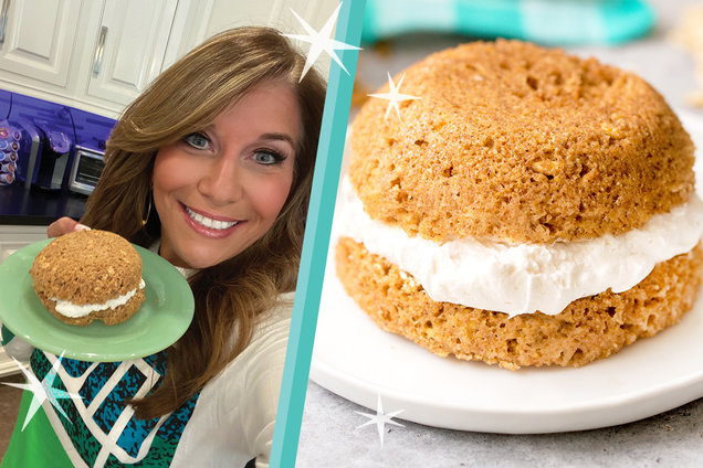 Hungry Girl's Healthy Big Debbie Oatmeal Creme Pie in a Mug Recipe