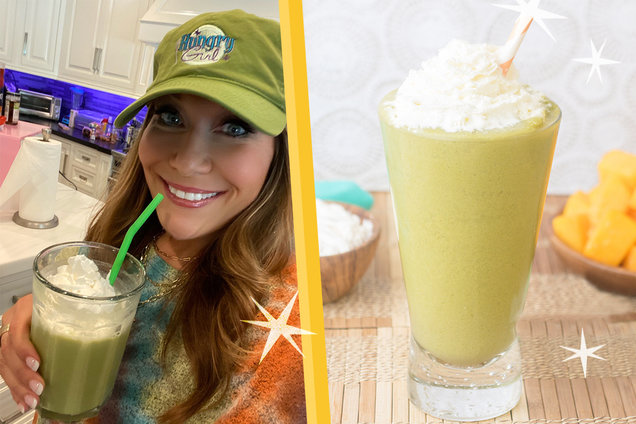 Hungry Girl's Healthy Mango Matcha-ccino Freeze Recipe