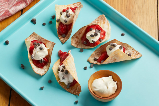 Hungry Girl's Healthy Neapolitan Dessert Tacos Recipe