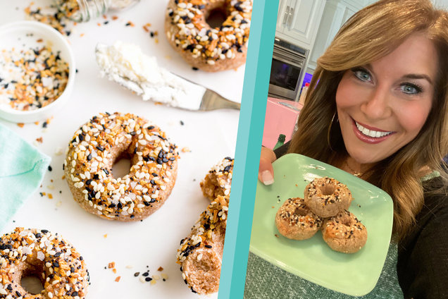 Hungry Girl's Healthy Air Fryer Itty Bitty Everything Bagels Recipe