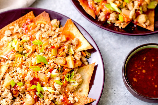 Hungry Girl's Healthy Deconstructed Egg Roll Nachos Recipe
