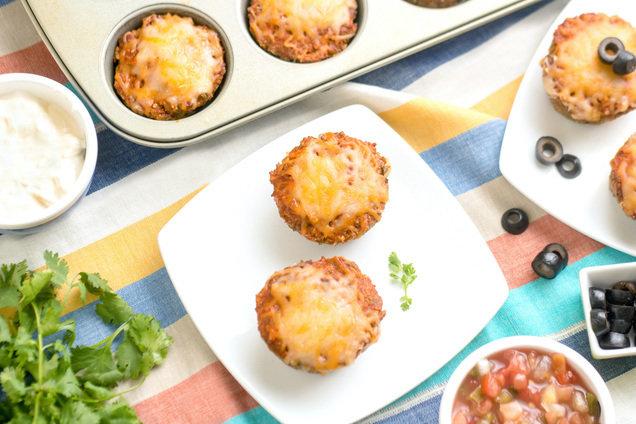 Hungry Girl's Healthy Mini Beef Enchilada Meatloaves Recipe