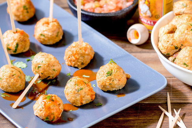 Hungry Girl's Healthy Mini Mexican Chicken Meatballs Recipe