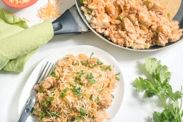 Hungry Girl's Healthy Chicken Enchilada Stir-Fry Recipe