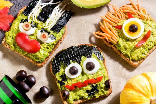 Hungry Girl's Healthy Spooky Avocado Toast Recipe