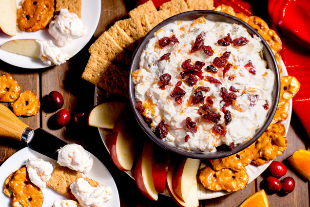 Hungry Girl's Healthy Cranberry Orange Cheesecake Dip Recipe