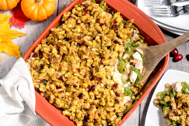 Hungry Girl's Healthy Can't Get Enough of Thanksgiving Casserole Recipe