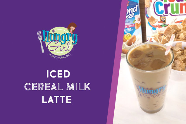 Hungry Girl's Healthy Iced Cereal Milk Latte Recipe